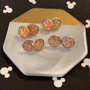 Jewelry - Sale 5/$15 Large round glitter earrings!